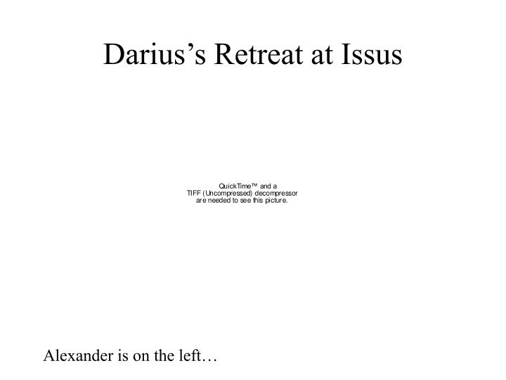 Darius's Retreat at Issus