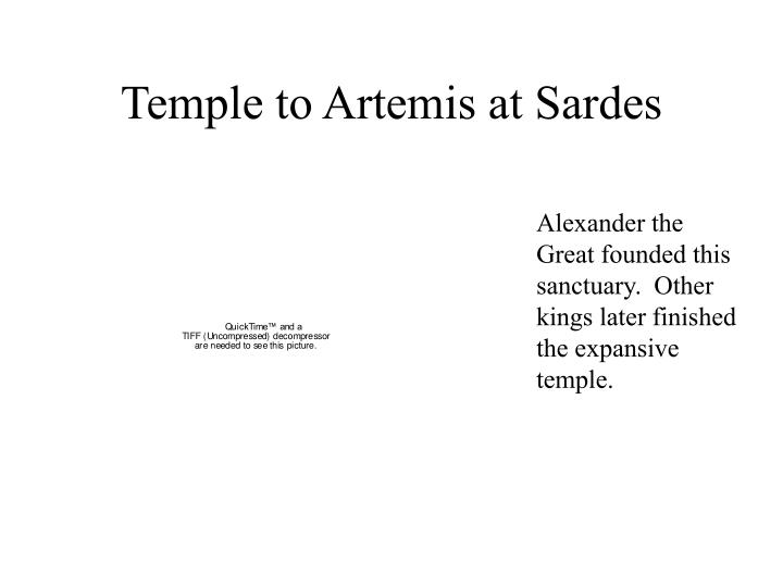 Temple to Artemis at Sardes