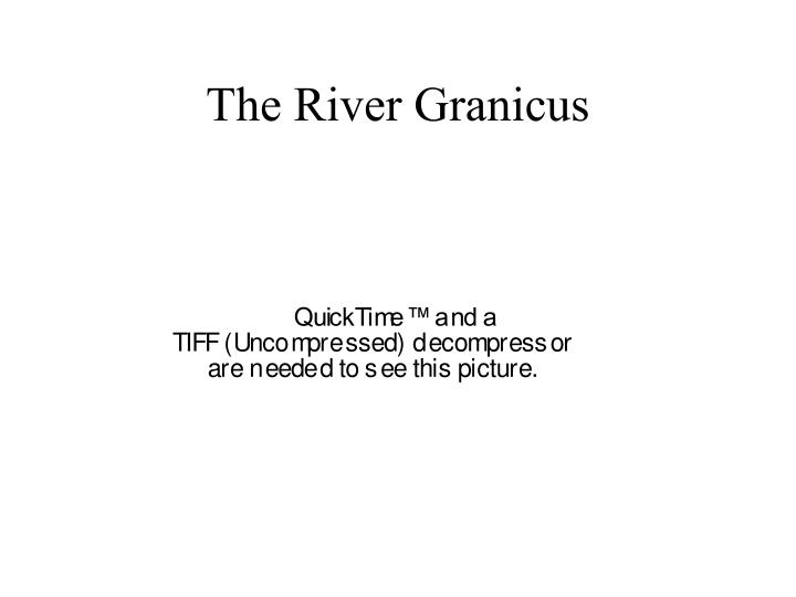 The River Granicus