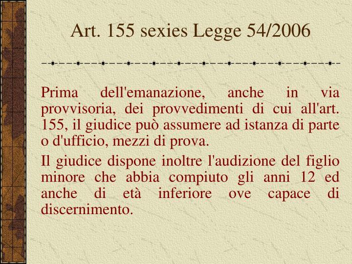 Art. 155 sexies Legge 54/2006