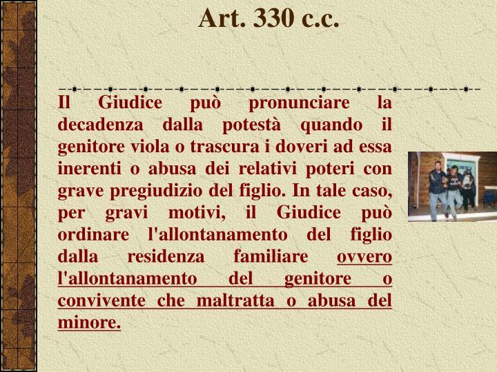 Art. 330 c.c.