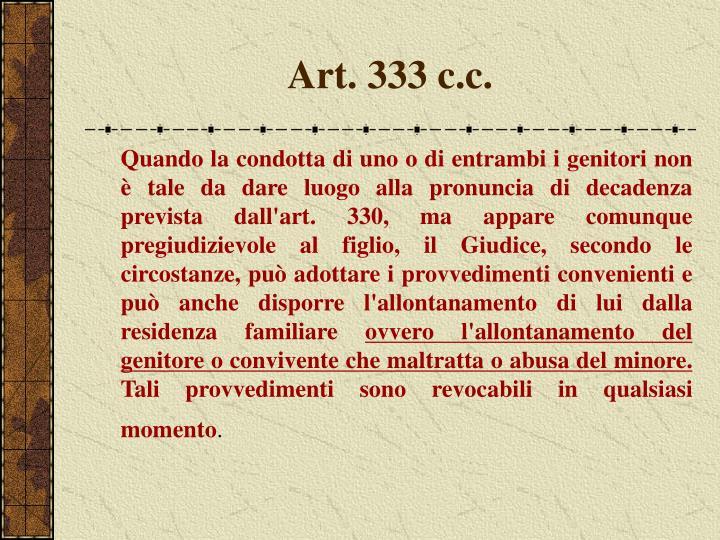 Art. 333 c.c.