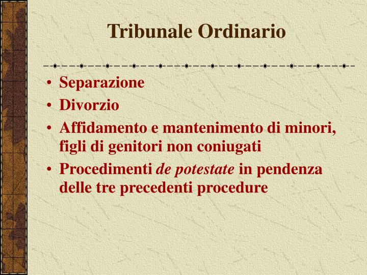Tribunale Ordinario