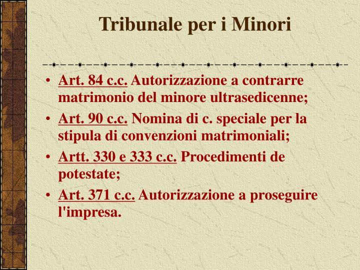 Tribunale per i Minori