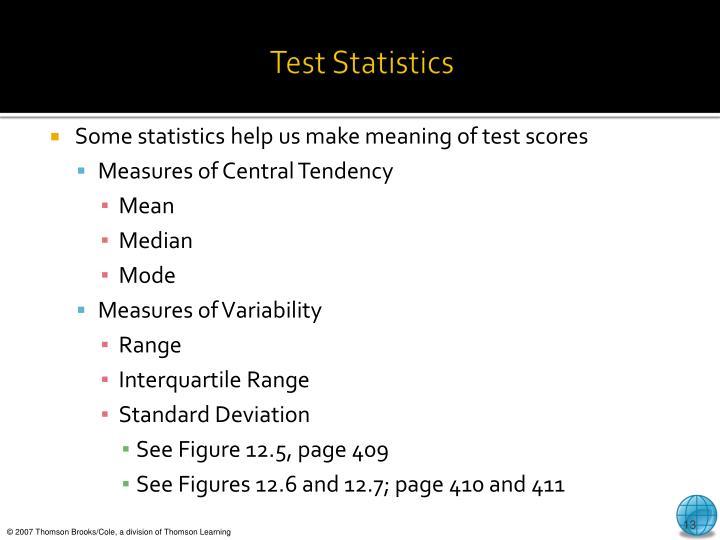 Test Statistics