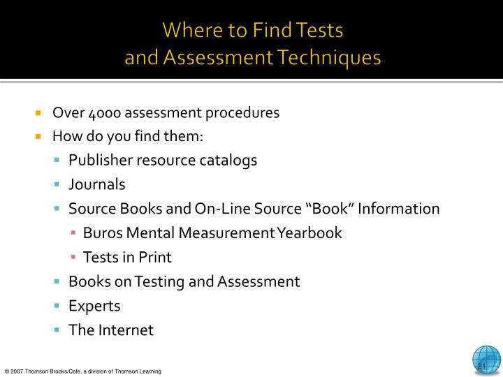 Where to Find Tests