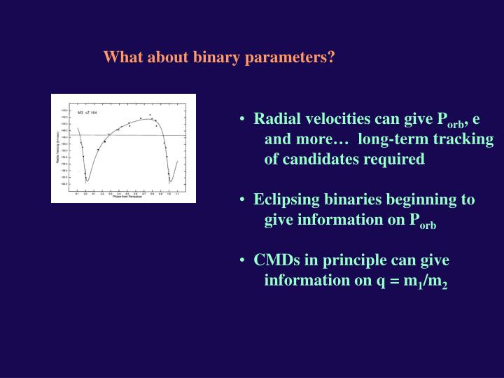 What about binary parameters?