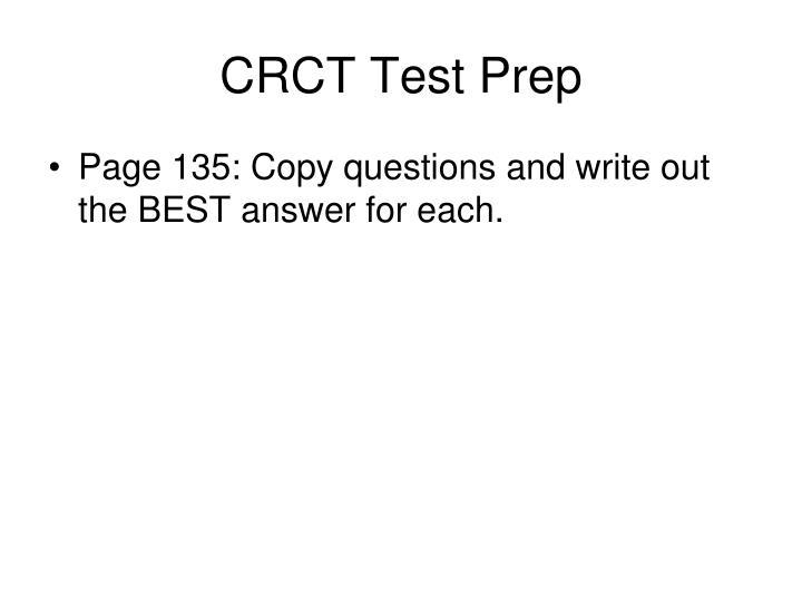 CRCT Test Prep