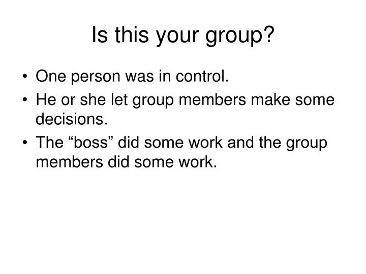 Is this your group?