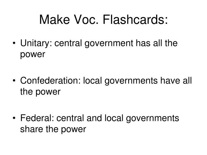 Make voc flashcards