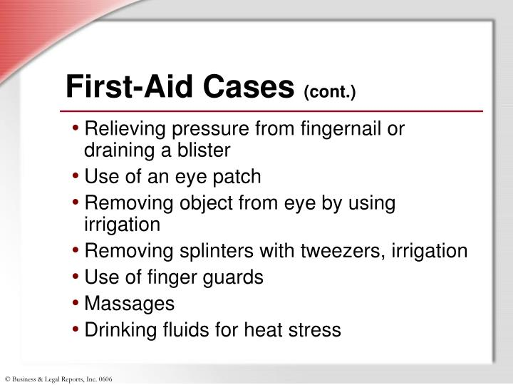 First-Aid Cases