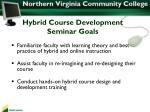 hybrid course development seminar goals