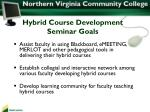 hybrid course development seminar goals1