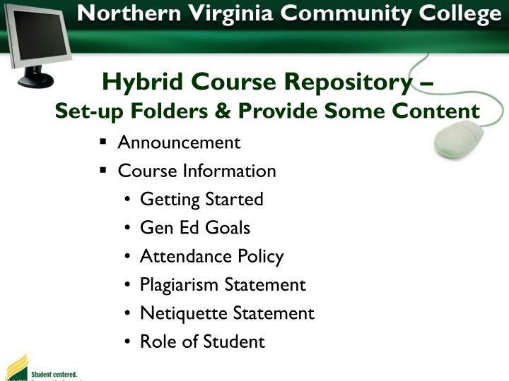 Hybrid Course Repository –
