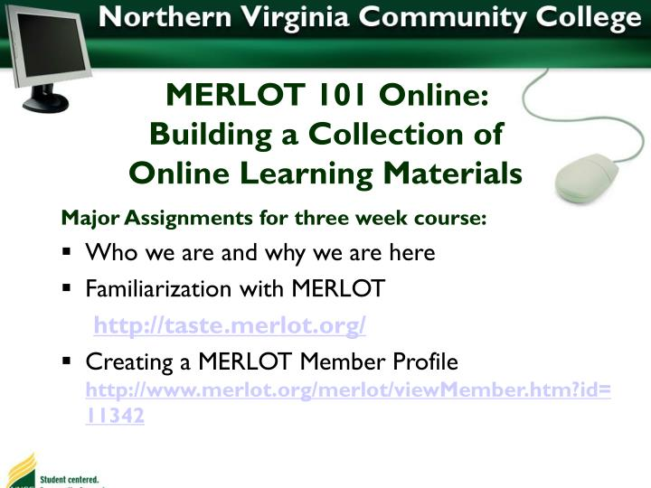 MERLOT 101 Online: