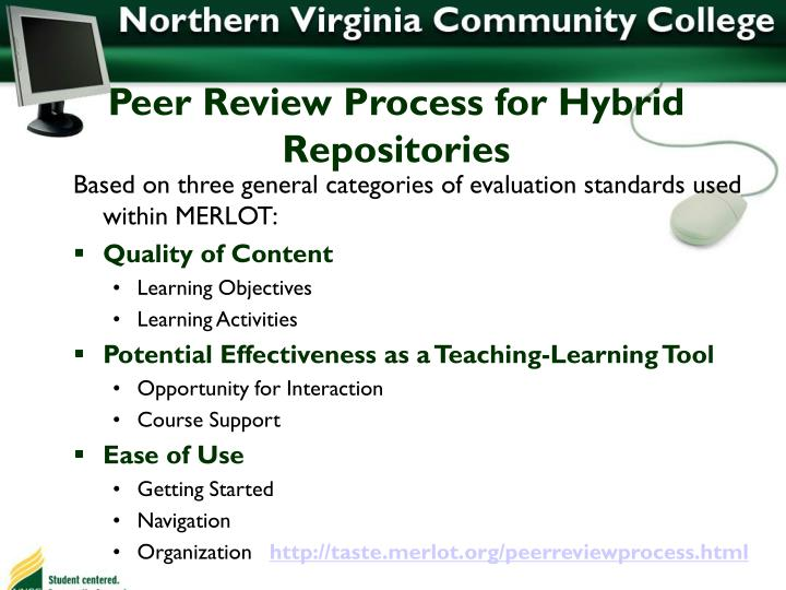Peer Review Process for Hybrid Repositories