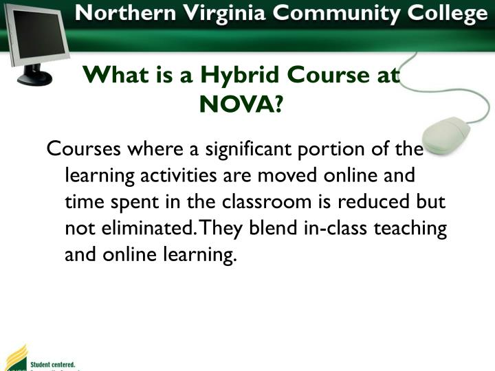 What is a Hybrid Course at NOVA?