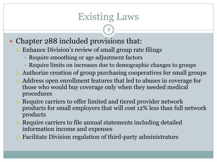 Existing Laws
