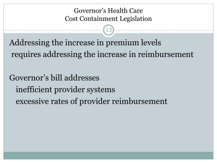 Governor's Health Care
