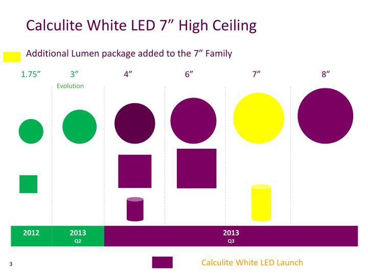 Calculite White LED 7