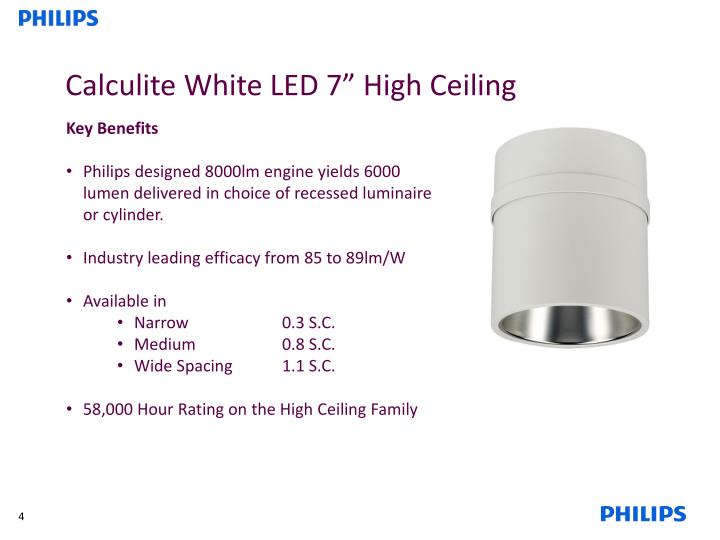 Calculite White LED 7