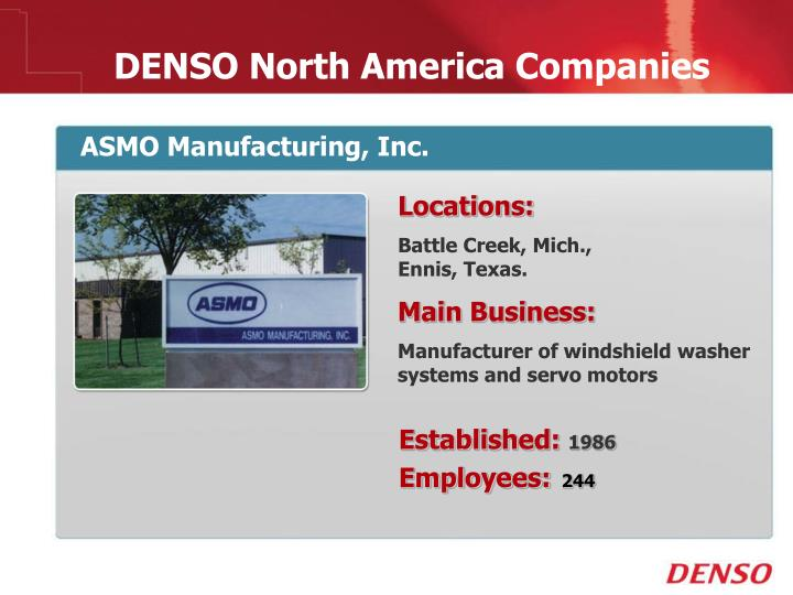 ASMO Manufacturing, Inc.