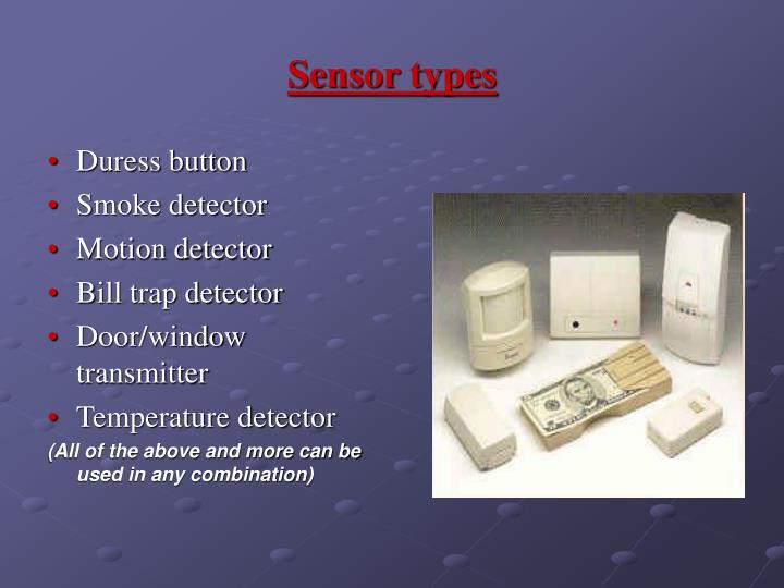 Sensor types