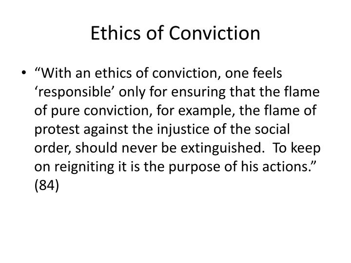 Ethics of Conviction