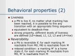 behavioral properties 2