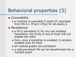 behavioral properties 3