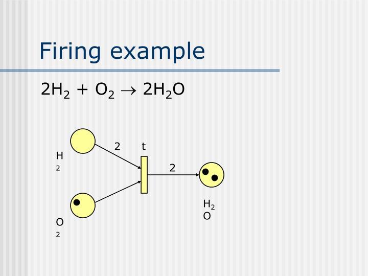 Firing example