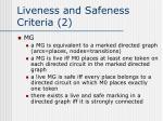 liveness and safeness criteria 2