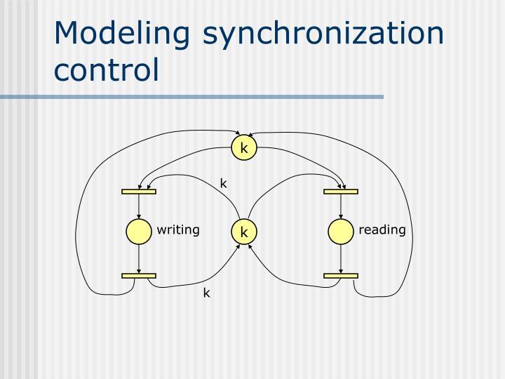 Modeling synchronization control