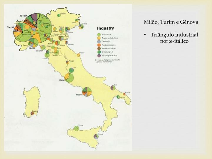 Milão, Turim e Gênova