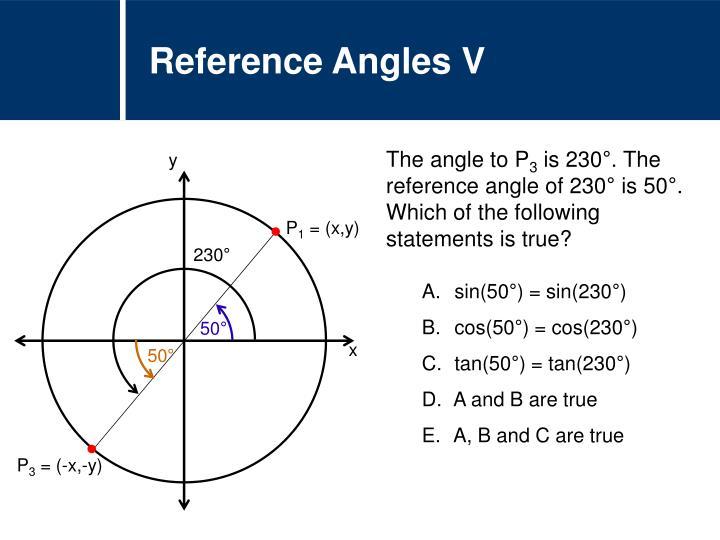 Reference Angles V