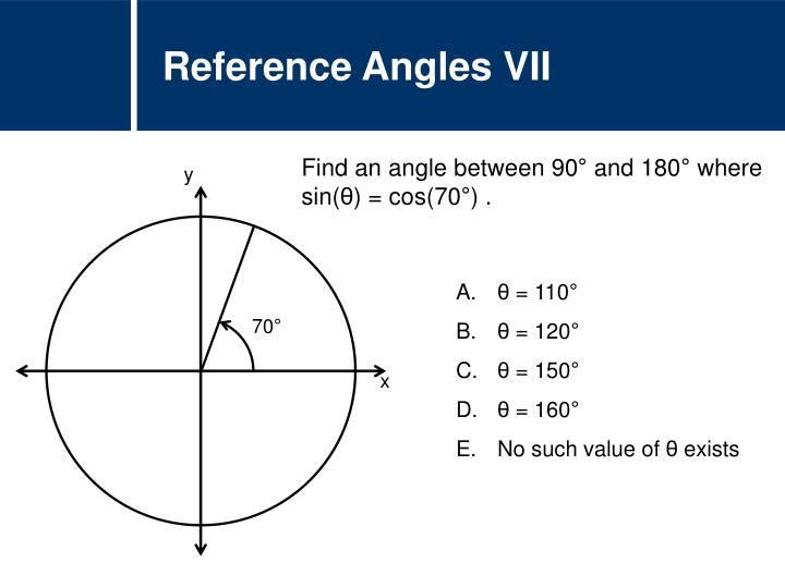 Reference Angles VII