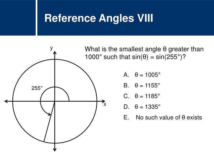 Reference Angles VIII