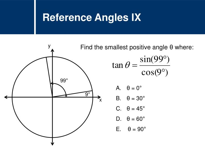 Reference Angles IX