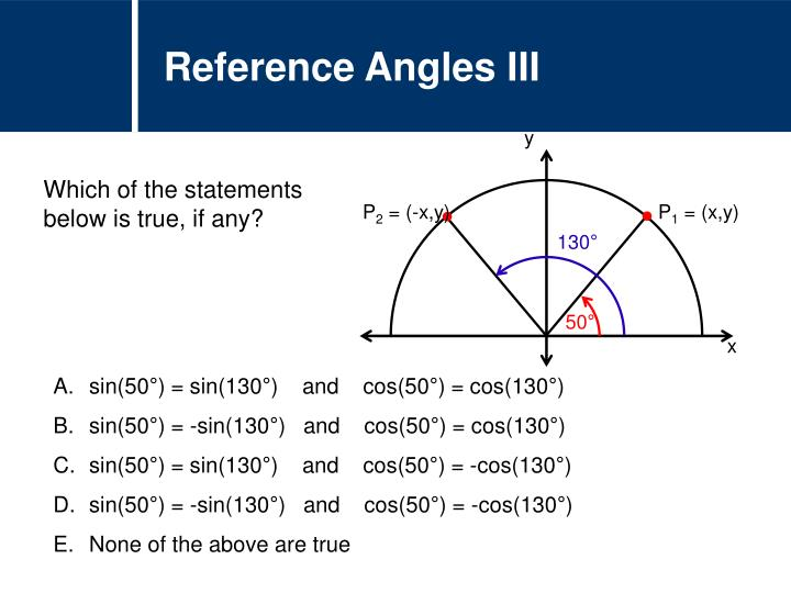 Reference Angles III