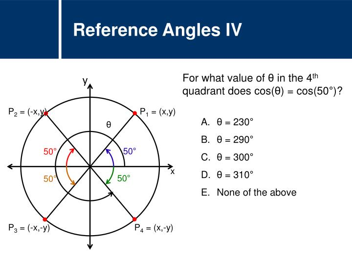 Reference Angles IV