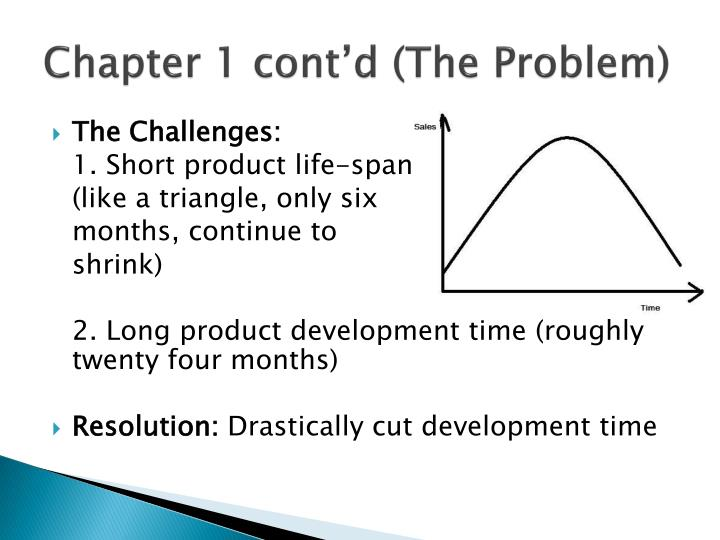 Chapter 1 cont'd (The Problem)