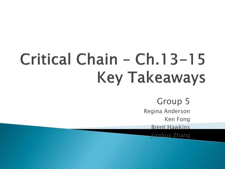 Critical Chain – Ch.13-15