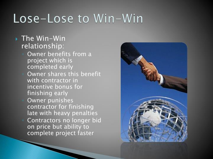 Lose-Lose to Win-Win