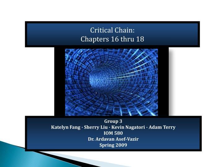 Critical Chain:
