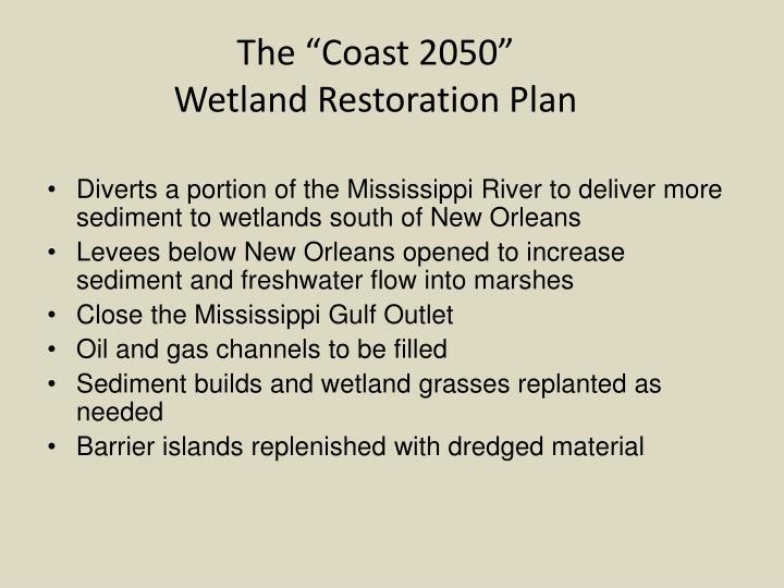 """The """"Coast 2050"""""""