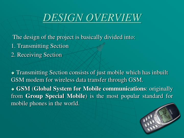 DESIGN OVERVIEW