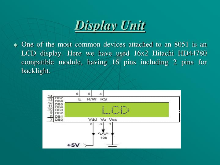 Display Unit