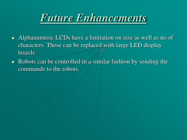 Future Enhancements