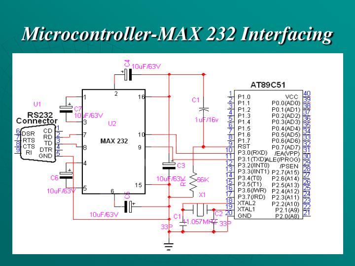 Microcontroller-MAX 232 Interfacing