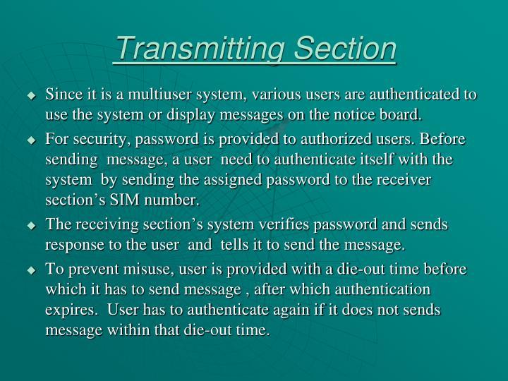 Transmitting Section